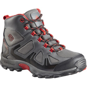 Columbia Peakfreak XCRSN WP Calzado Niños, city grey/bright red